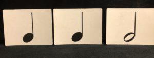 リズムカードの例題の写真