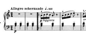 アラベスク 冒頭の楽譜の写真
